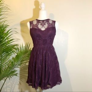 Express Lace Overlay Dress